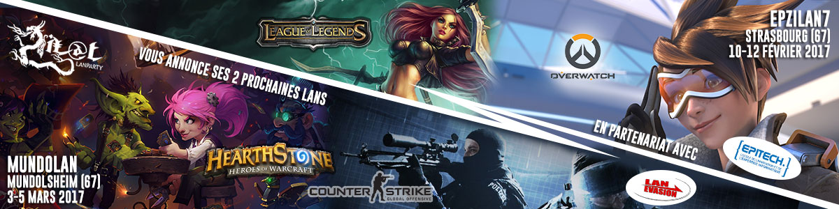 EpZiLAN 7 League of Legend Overwatch MundoLAN CS:GO Hearthstone