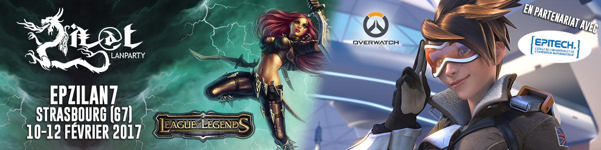 EpZiLAN 7 League of Legend Overwatch
